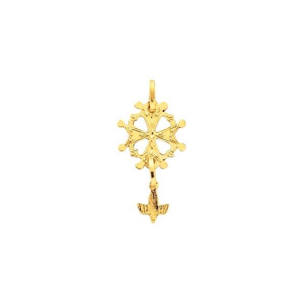 Pendentif  croix huguenote en or