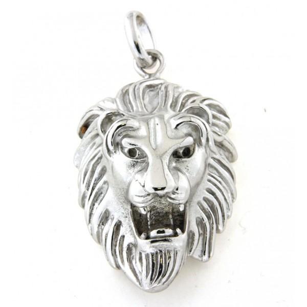 Pendentif tete de lion en argent