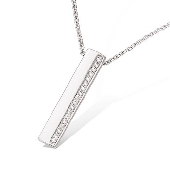 Collier rectangle avec oxydes