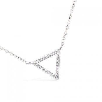 Collier triangle en argent