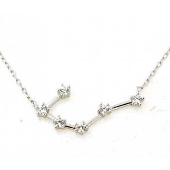 Collier constellation du cancer en argent