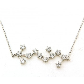 Collier constellation du scorpionen argent