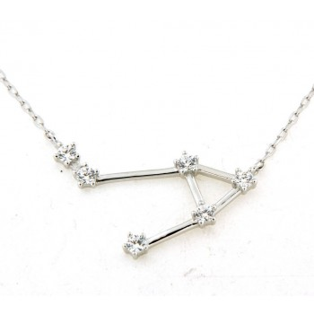 Collier constellation de la balance en argent