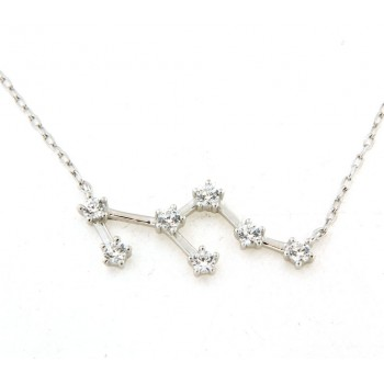 Collier constellation du lion en argent