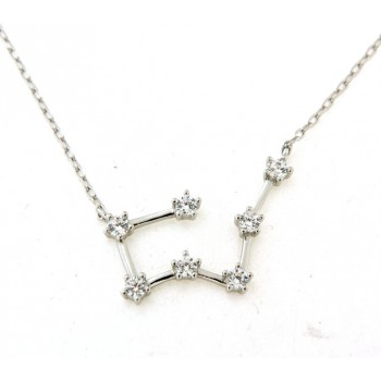 Collier constellation du taureau en argent
