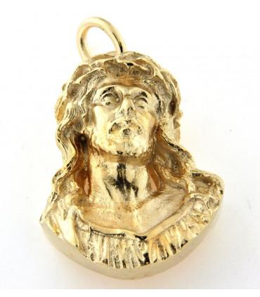 Pendentif buste Christ en or