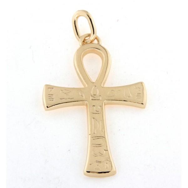 Pendentif croix égyptienne en or