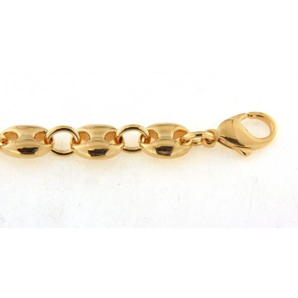 Bracelet plaqué or grain de café