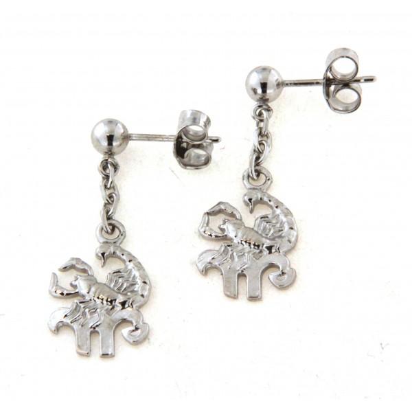 Boucles d'oreilles argent motif zodiaque