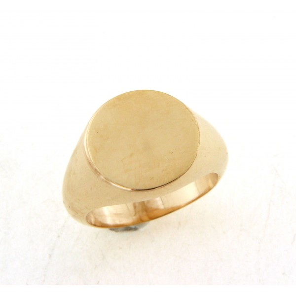 Chevalière plaqué or