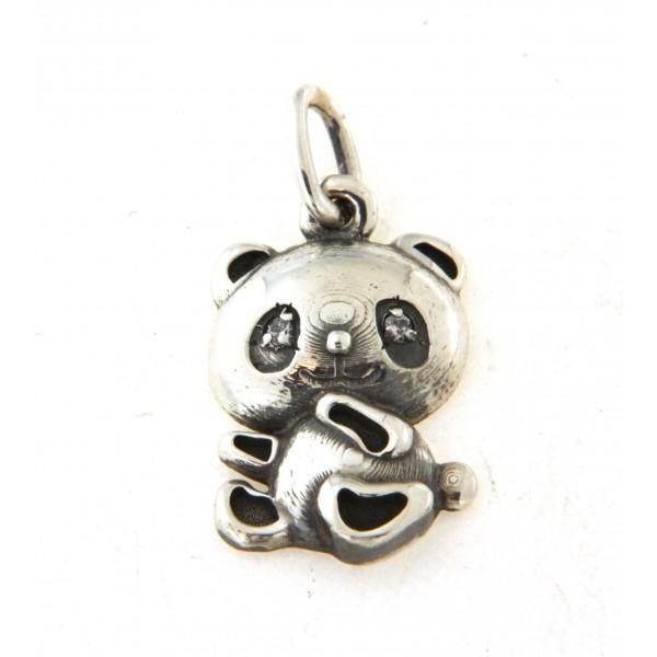 Pendentif panda en argent