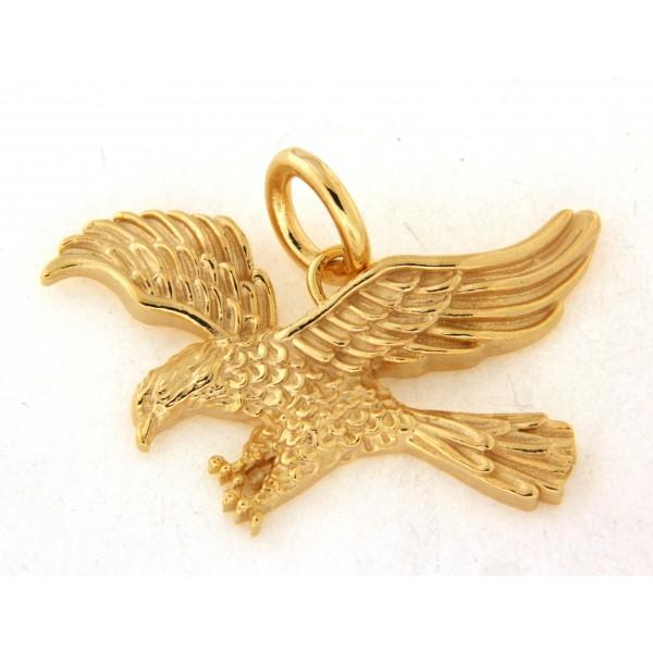 Pendentif aigle en plaqué or