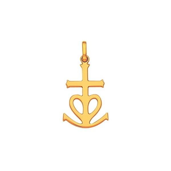 Croix de camargue or 750/1000e 0.85grs