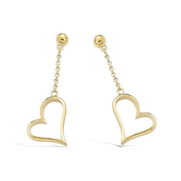 Bo chainette avec coeur en plaqué or