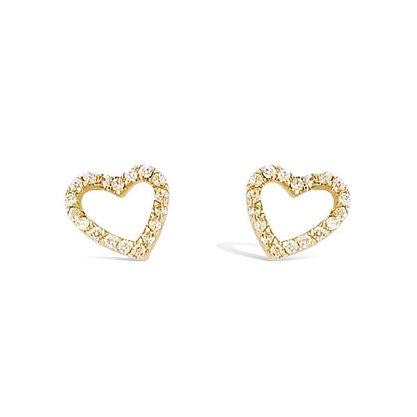 Bo coeur oxydes en plaqué or