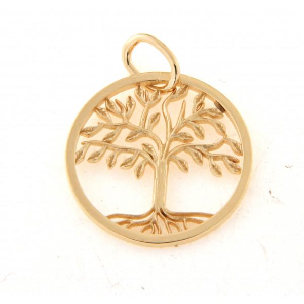Pendentif plaqué or arbre de vie
