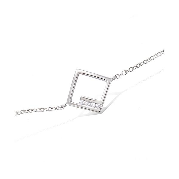 Bracelet argent motif carrée